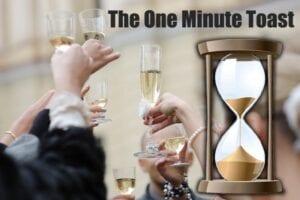 one minute wedding toast